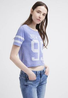 Only Onltruly Camiseta Print Amparo Blue camisetas y blusas print Only Onltruly camiseta Blue Amparo Noe.Moda