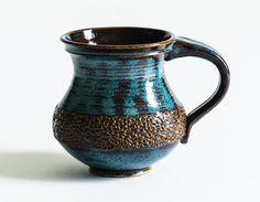 Handmade Stoneware Coffee Mug with Rueger by RuegerPottery on Etsy