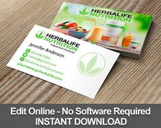 Herbalife Shake Recipes, Herbalife Nutrition, Business Card Design, Business Cards, Nutritional Shake Mix, Greeting Card Shops, Nutrition Club, Letter Size Paper, Herbalism