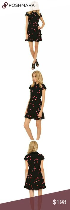 Kate Spade Petite Florals Ruffle Dress Dress features:  Peter Pan Collar  Short Sleeve  Back Zipper & clasp closure  Front side Ruffle  Fully lined  100% Polyester kate spade Dresses