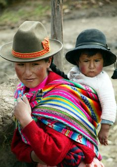Peru  Villager and child