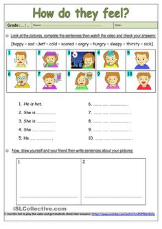 This worksheet would be helpful with learning emotions and beginning ESOL students would benefit from learning different feelings so that they can better express themselves.