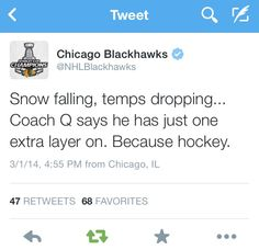 Because Hockey.