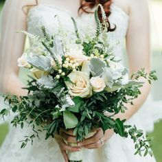 Beautiful soft rustic bridal bouquet. Rustic Canadian Barn Wedding by Lyn Ismael: Evocative Imagery of Love Stories