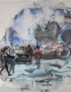 "Saatchi+Online+Artist+Sabina+Sinko;+Painting,+""passers+-by+L1""+#art"