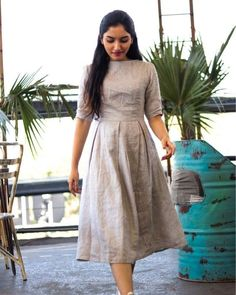 Related posts:The perfect makeup!Short is the dress for SummerNails design for me right now Kalamkari Dresses, Ikkat Dresses, Kurta Designs Women, Salwar Designs, Cotton Frocks, Cotton Dresses, Frock Fashion, Fashion Dresses, Casual Frocks