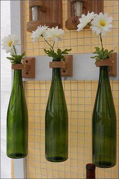 Floreros colgantes Botella de vino