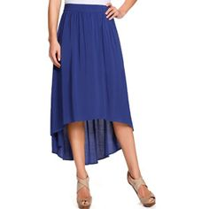 Miss Tina Women's Hi-lo Maxi Skirt