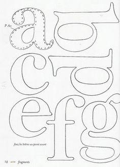 Artesanato em Feltro | Meninas Travessas |: Molde de letras