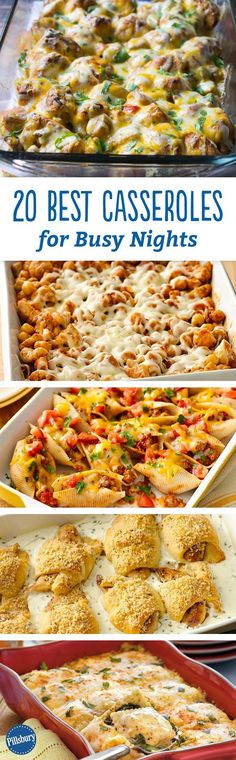 Dinner just got 20 times easier! Quick prep is the name of the game for these guaranteed-to-please casseroles and dinner bakes. We know you're busy and need dinner on the table fast. Most recipes take under 30 minutes to prepare!