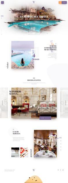 hotel website Hotel Website on Behance Hotel Website Templates, Hotel Website Design, Best Website Design, Travel Website Design, Luxury Website, Website Design Layout, Homepage Design, Web Layout, Layout Design