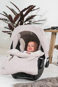 Jollein voetenzak Natural knit - Belly bloz - Baby artikelen