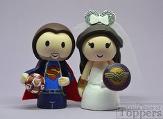 Items similar to Wedding Cake Topper - Superhero Football Groom & Superhero Woman Mouse Ear Bride on Etsy Superhero Cake Toppers, Disney Cake Toppers, Wedding Cake Toppers, Wedding Cakes, Etsy Seller, Unique Jewelry, Handmade Gifts, Shopping, Groom