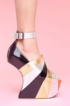 Tuesday Shoesday. These wild #JeffreyCampbell platforms! #fashion #shoes