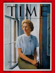 First Lady Pat Nixon nee Ryan was a firm believer in the Equal Rights Amendment and was most pleased by its admission to Congress during her husband's administration. Mrs. Nixon was known for encouraging the President to appoint women to important positions.    We've come a long way ladies! Thank God! ~Mary Jean Marquez