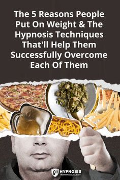 Hypnosis For Weight Loss: A Complete Guide To The 5 Key Reasons People Gain Weight & The Techniques You Can Use to Overcome Them - weight loss easy Put On Weight, Start Losing Weight, Yoga For Weight Loss, Diet Plans To Lose Weight, Easy Weight Loss, Weight Gain, Hypnosis For Weight Loss, Weight Loss Photos, Low Carb Diet Plan