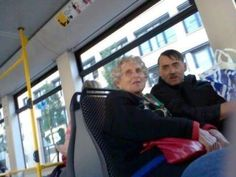 On a bus in Norway in 2012... Creepy!