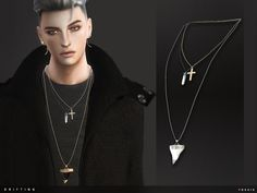 -5 colours  Found in TSR Category 'Sims 4 Male Necklaces'