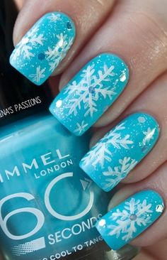 9 Easy way to Do Blue Nail Art Designs.. Luxury Beauty - winter nails - http://amzn.to/2lfafj4