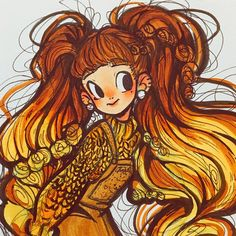 Cartoon Art Styles, Cute Art Styles, Cartoon Drawings, Pretty Drawings, Fanarts Anime, Sketchbook Inspiration, Kawaii Art, Marker Art, Character Drawing