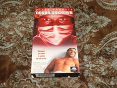 Donor Unknown (VHS, 1996) OOP 1st MCA Black Market Surgery Horror! *NOT ON DVD*