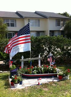 patriotic landscaping memorial day or july 4th ideas