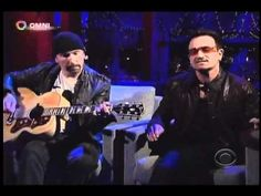 "The Edge and Bono explain how the lyrics for ""Stuck In A Moment"" was inspired by the death of their friend Michael Hutchence. July, 2011 on David Letterman"