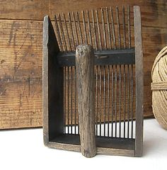Antique French Wooden Blueberry Gatherer French by VictoriasAttick, $40.00
