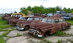 Cars Resting in a Northeast Oklahoma Auto Salvage. Tripper's Travels.