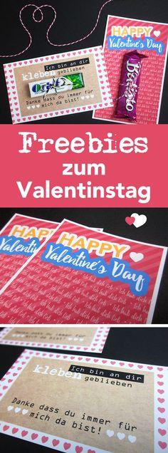 Zwei Geschenkideen für den Valentinstag mit Freebies zum Runterladen! #valentinstag #geschenkidee #printable