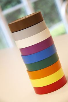 organize books with colored electrical tape