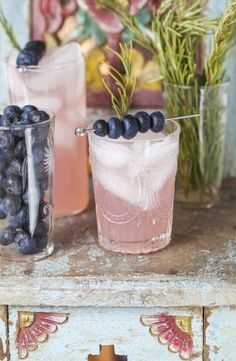 Rosemary Blueberry Smash Mocktail - By Danielle Walker of Against All Grain