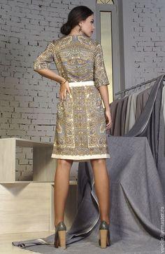 Купить Платье из павлопосадского платка, платье в русском стиле - русский стиль, павловопосадский платок