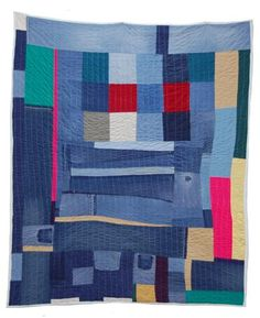 """Gee's Bend Quilts formatting Loretta Bennett Untitled quilted fabric 73"""" x 59.5""""  So Cool!"""