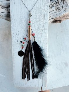 Boho Chic Recycled Bullet Casing Tassel Necklace