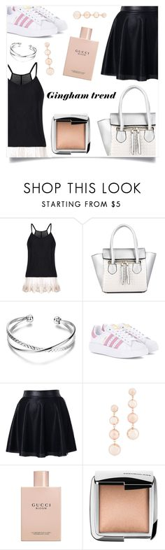 """Reflections"" by violet-peach ❤ liked on Polyvore featuring adidas Originals, Chicwish, Rebecca Minkoff, Gucci and Hourglass Cosmetics"