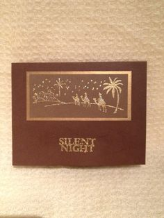 Silent night Silent Night, I Card, Personalized Items