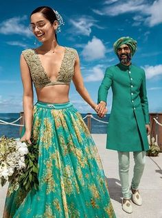 10 Bridal Lehenga Designs for Every Style of Indian Wedding_Sabyasachi Destination Wedding You are in the right place about Bridal Outfit green Here we offer you the most beautiful pictures about the Indian Lehenga, Indian Gowns, Indian Attire, Sabhyasachi Lehenga, Sabyasachi Lehenga Bridal, Indian Wedding Lehenga, Lehenga Style, Wedding Sarees, Punjabi Wedding