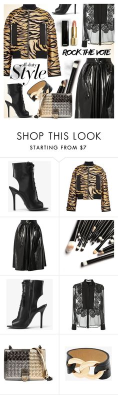 """""""Gold and Black"""" by cilita-d ❤ liked on Polyvore featuring Michael Kors, Kenzo, Marc Jacobs, Givenchy and Bottega Veneta"""