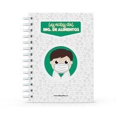 Cuaderno - Las notas del ingeniero de alimentos, encuentra este producto en nuestra tienda online y personalízalo con un nombre. Notebook, Food Security, Engineer, Notebooks, Report Cards, Store, Food Items, The Notebook, Exercise Book