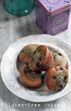 Warm Gluten-Free Blueberry Flax Muffins @ Gluten-Free Goddess I used coconut oil and half the blueberries...very good!