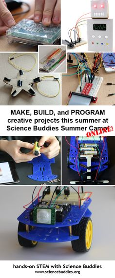 Check out Science Buddies Summer Camp 2016! Campers will work on #robotics or creative computer #programming and #electronics projects (or both!) in a convenient online environment. June 6-August 5, 2016. [Science Buddies, http://www.sciencebuddies.org/blog/2016/06/new-online-summer-stem-camp.php?from=Pinterest] #STEM #sciencecamp #summercamp #summerscience #camp #science