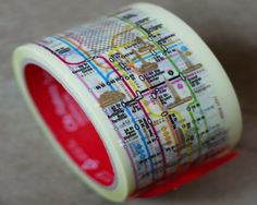 The potential uses for this clever and creative subway map tape are endless!