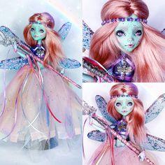 Monster High Repaint, Monster High Dolls, Monster High Custom, Doll Painting, Doll Repaint, Fairy Dolls, Ooak Dolls, Custom Dolls, Doll Face