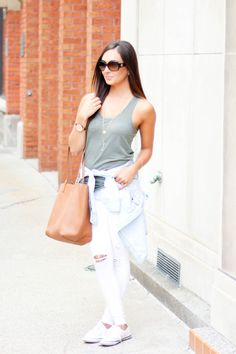 "Averie Nicole Blog | Army Green + Basics | Urban Outfitters | Banana Republic | Nordstrom | Polo | Gigi New York | Michael Kors | Rocks Box (use code ""avessnicolexoxo"" for 1 month of FREE jewelry from www.rocksbox.com) 