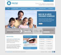 Muestra de la página principal diseñada para la Clínica Dental Idental