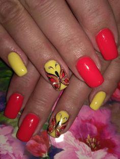 Summer Nail Designs - My Cool Nail Designs Hot Nail Designs, Pretty Nail Designs, Hot Nails, Hair And Nails, Fabulous Nails, Flower Nails, Summer Nails, Nail Colors, Broccoli Salads