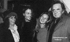 Johnny Depp, Kate Moss with Johnny Cash and June Carter Cash.