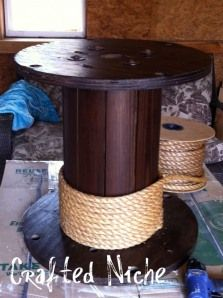 Ballard Designs Inspired spool Side Table