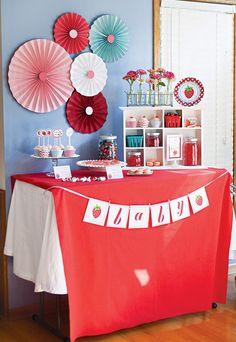 'Berry Sweet' Baby Shower — so cute & retro